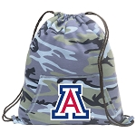 Arizona Wildcats Drawstring Backpack Blue Camo