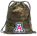 Arizona Wildcats Drawstring Backpack Green Camo