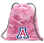 Arizona Wildcats Drawstring Backpack Pink Camo