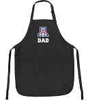 Official University of Arizona Dad Apron Black