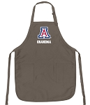Official Arizona Wildcats Grandma Apron Tan