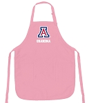 Deluxe University of Arizona Grandma Apron Pink - MADE in the USA!
