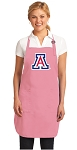 Deluxe University of Arizona Apron Pink - MADE in the USA!