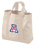 University of Arizona Tote Bags NATURAL CANVAS