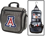 Arizona Wildcats Toiletry Bag or University of Arizona Shaving Kit Organizer for Him Gray