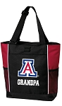 University of Arizona Grandpa Tote Bag Red