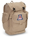 Arizona Wildcats LARGE Canvas Backpack Tan