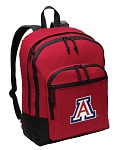 Arizona Wildcats Backpack CLASSIC STYLE Red