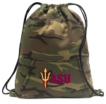 ASU Drawstring Backpack Green Camo