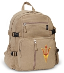 Arizona State Canvas Backpack Tan