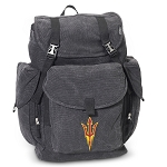 Arizona State LARGE Canvas Backpack Black