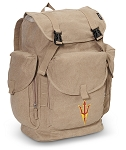 Arizona State LARGE Canvas Backpack Tan