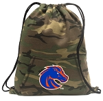 Boise State Drawstring Backpack Green Camo