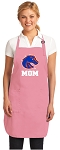 Boise State Mom Apron Pink - MADE in the USA!