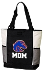 Boise State Mom Tote Bag White Accents