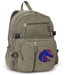 Boise State Canvas Backpack Olive