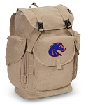 Boise State LARGE Canvas Backpack Tan
