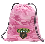 Baylor Drawstring Backpack Pink Camo