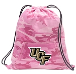 UCF Drawstring Backpack Pink Camo