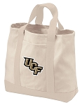 University of Central Florida Tote Bags NATURAL CANVAS