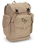 UCF LARGE Canvas Backpack Tan