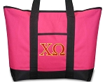 Deluxe Pink Chi Omega Tote Bag