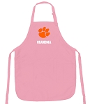 Clemson Grandma Apron Pink - MADE in the USA!