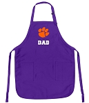 Clemson Dad Apron Purple - MADE in the USA!
