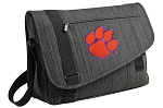 Clemson Messenger Laptop Bag Stylish Charcoal