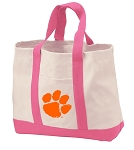 Clemson Tote Bags Pink