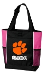 Clemson University Grandma Tote Bag Pink