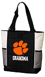 Clemson University Grandma Tote Bag White Accents
