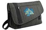 Tri Delt Messenger Laptop Bag Stylish Charcoal