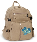 Tri Delt Canvas Backpack Tan