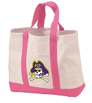 East Carolina Tote Bags Pink