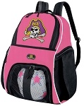 Girls East Carolina University Soccer Backpack or ECU Volleyball Bag