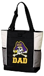 East Carolina Dad Tote Bag White Accents