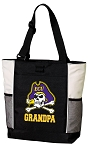 East Carolina Grandpa Tote Bag White Accents