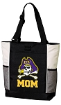 East Carolina Mom Tote Bag White Accents