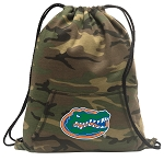 University of Florida Drawstring Backpack Green Camo