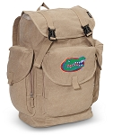 University of Florida LARGE Canvas Backpack Tan