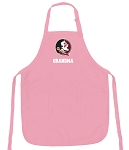 Deluxe Florida State Grandma Apron Pink - MADE in the USA!