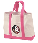 Florida State Tote Bags Pink