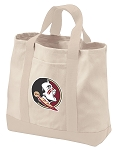 Florida State Tote Bags NATURAL CANVAS