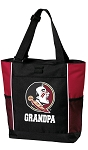 Florida State Grandpa Tote Bag Red