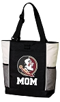 Florida State Mom Tote Bag White Accents