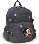 FSU Canvas Backpack Black