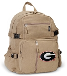 University of Georgia Canvas Backpack Tan