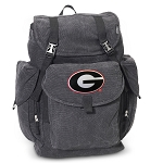 Georgia Bulldogs LARGE Canvas Backpack Black