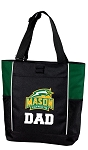 George Mason Dad Tote Bag Hunter Green